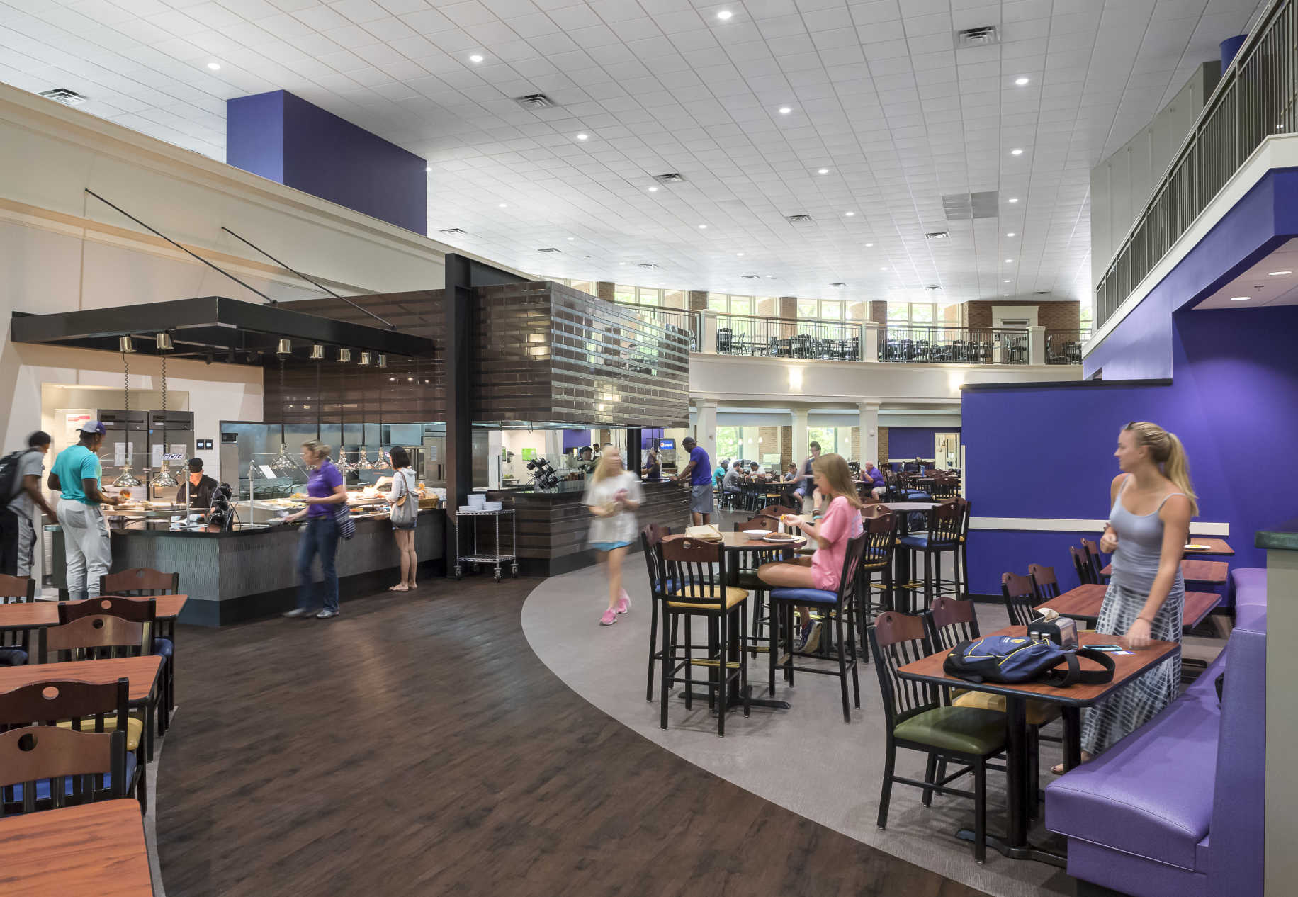 Charles e daniel dining hall dp3 architects for Dining hall design