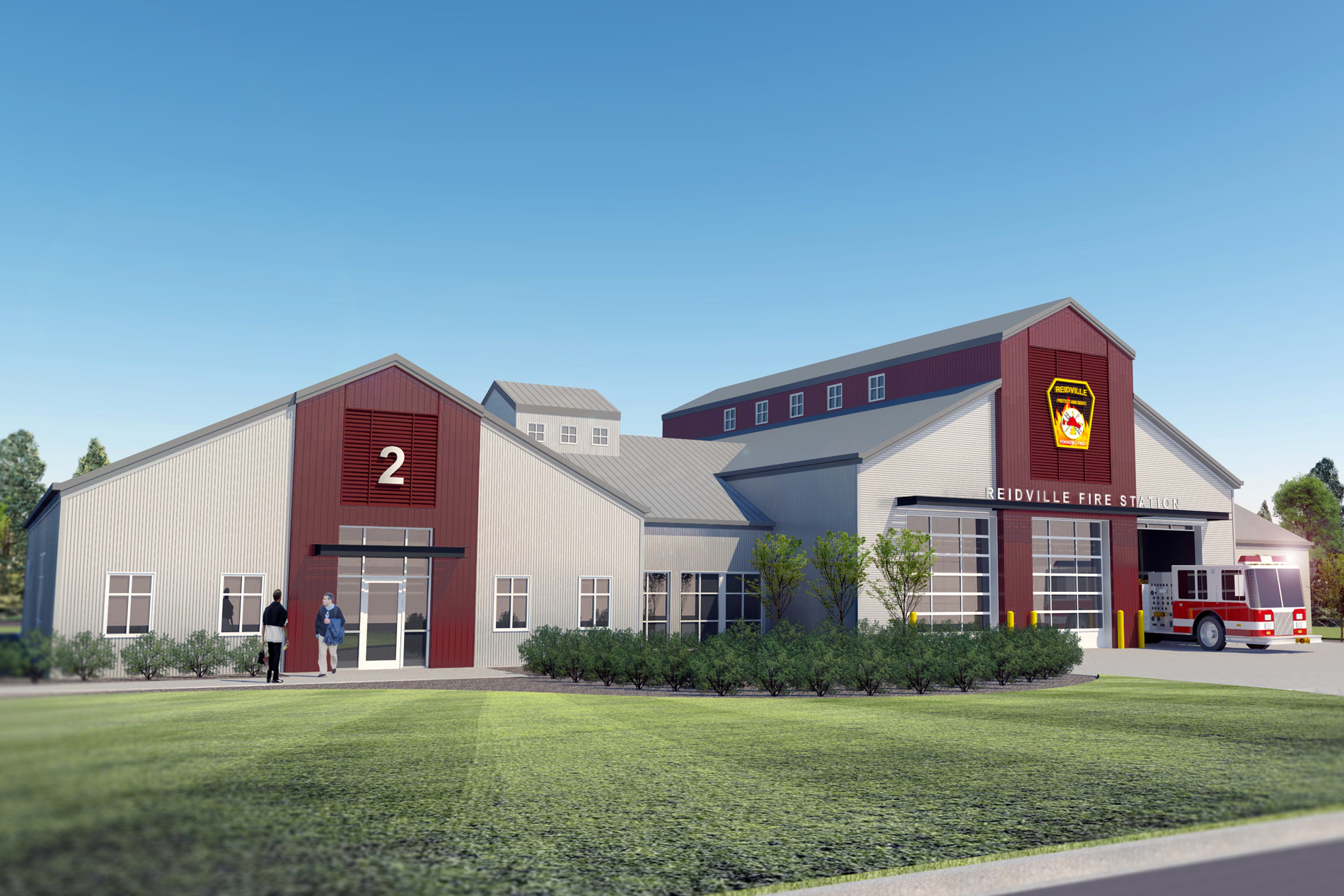 Reidville Area Fire District New Fire Station | DP3 Architects