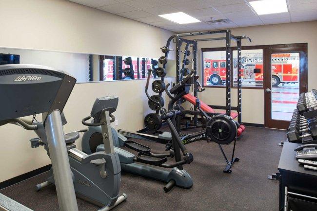 Travelers Rest SC, Fire Station Design - Fire Station Fitness Center