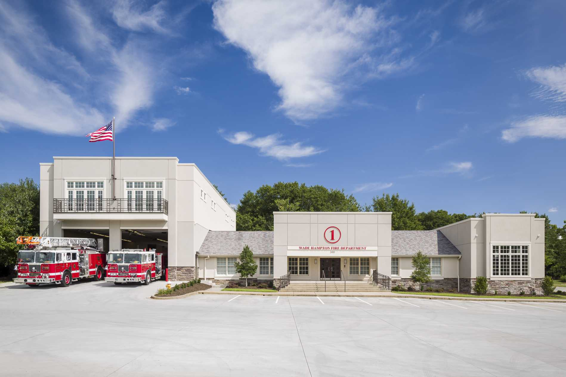 Fire Station Design Project - Wade Hampton Fire Station Exterior 3